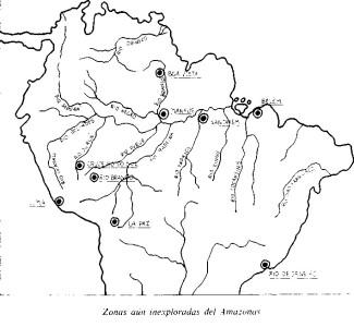 Mapa Brasil Zonas Inexploradas