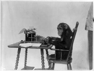 ape writing poems