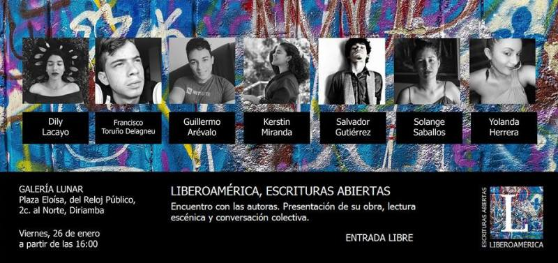 escriturasabiertas_liberoamericanicaragua_flyer_solangesaballos_palmereando_rubenaragonilustración