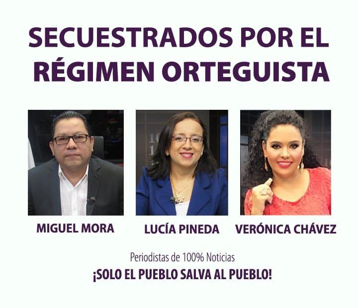periodistassecuestrados_100noticias_nicaragua_solangesaballos_liberoamerica_dictaduraortegamurillo_sosnicaragua